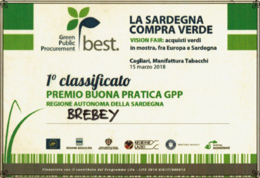 Brebey 1° Classificato al Green Public Procurement