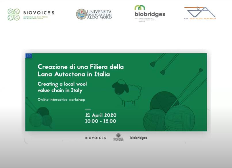 Brebey ringrazia organizzatori e partecipanti del webinar sulla Creazione di un Filiera della Lana Autoctona in Italia